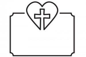 klepsydry, serce, krzyż